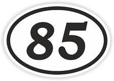 85 ottantacinque numero OVALE Adesivo Paraurti Decalcomania MOTOCROSS motociclo aufkleber