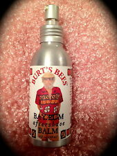 Mens Natural Aftershave Burts Bees Bay Rum 4 0unce OZ Large Rare