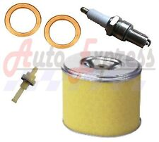 HONDA GX340 SERVICE KIT SPARK PLUG AIR FILTER COPPER WASHER FUEL PETCOCK 11HP