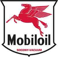 "MOBIL OIL vinyl cut sticker decal 6"" (full color)"