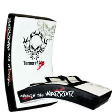 TurnerMAX Kickboxing Strike Pad MMA Kick Punching Punch Bag Gloves Rex Leather