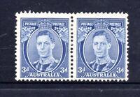 1938  KGVI 3d BLUE x 2 (PAIR )  (DIE 2)  THICK PAPER - MINT