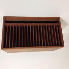 Kalmar Designs 20 CD Holder Modern Danish Teak Wood Storage Racks w/Eject
