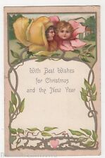 Fantasy Flowers, Children, Early Walter Wheeler Christmas Postcard, B520