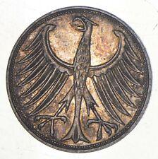 SILVER - WORLD Coin - 1951 Germany 5 Mark - World Silver Coin *464
