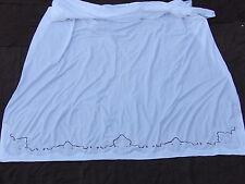 Grand Drap brodé en coton  226 cm x 305  cm
