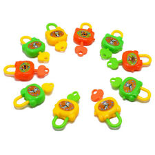 2PCS Plastic Cartoon Keys Toy Locks Notebook Lock Toy For Kids Birthday Gift DE