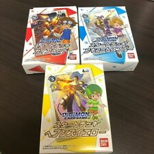 DIGIMON Card Game Start Deck- Gaia Red, Cocytus Blue, Heavens Yellow 3 Packs Set