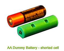 AA Size Dummy Battery qty 4- shorted slug - short circuit- reduce voltage- 4 pc