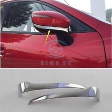 For Mazda CX-5 CX5 2013-2017 2x Car Chrome Rearview Side Mirror Cover Trim Strip