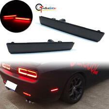 For 2015-2020 Dodge Challenger Rear Bumper Side Marker Lamps Lights, Smoked Lens