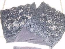 Straps Strümpfe Spitzenrand Gr 36/38 schwarz sexy feminin leicht glänzend 20 DEN