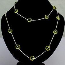 Lemon citrine Chain 925 Silver Precious stone necklace Designer Unique Pretty