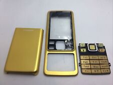 FRONT AND BACK HOUSING CASING WITH KEY BOARD KEYPAD FOR NOKIA 6300 Gold