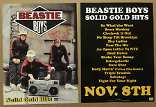 Beastie Boys Rare 2005 Double Sided Promo Poster for Solid Cd 11x15 Mint