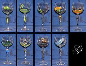 NEUw. Nagel Ideen in Glas Traumwelten Hochemailledekor Burgunderglas ~z. Auswahl