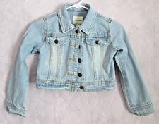 Young Girl's Heart Embellished Denim Jacket by Cherokee Sz  S/P 6/6X EUC