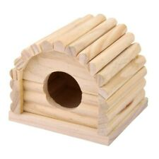 Hamster Mouse Gerbil Wooden House Toy Hole Dia.4cm