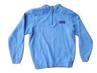 Vineyard Vines Light Blue Mens Pullover Quarter 1/4 Zip Sweatshirt XS Pink Logo