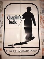 City Lights 1971 & Modern Times Charlie Chaplin 1971 Original One Sheet Posters
