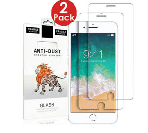 For iPhone 7 6 6s 8 Plus SE 2 2020 Gorilla Tempered Glass Screen Protector Case