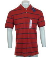 New Men's Club Room Short Sleeve Polo Shirt Red Navy Striped £42 S M L XL