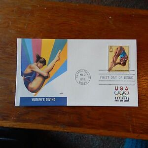 Estate Find - FDC OLYMPICS, Women's Diving May 2, 1996 Centennial Games