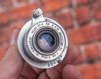 INDUSTAR-50 tubus lens 50mm f/3,5 lens M39 Leica Zorki FED camera Elmar copy Red