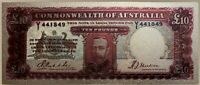 10 Pounds Australia Riddle - Sheehan.. King George V Portrait polymer banknote