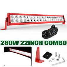 "22inch 280W LED Work Light Bar Spot Flood Combo Offroad Pickup Truck ATV 4WD 24"""