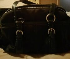 New Coach Black Soho Signature Double Zip Satchel Handbag Purse #H0893-12680