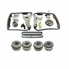 4Pcs Camshaft Adjusters + Timing Chain Kit For Mercedes-Benz C350 C400 E350 E400