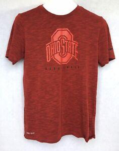 Ohio State Buckeyes Basketball Nike Dri Fit Shirt Red Mens Small Brutus Cbus