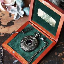 """""""Nero"""" Orologio da taschino, scatola personalizzata incisa, regali di nozze Testimoni dello sposo"""