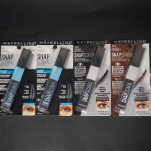 4X Maybelline New York Waterproof Snapscara Mascara 305, 300, & 340 Brown Black