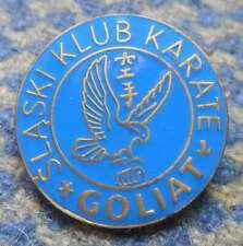 GOLIAT KATOWICE POLAND KARATE KYOKUSHIN KYOKUSHINKAI CLUB BLUE VERS. PIN BADGE