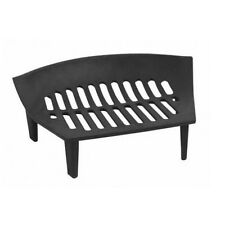 "Black Iron Cast Log Coal Fire Fuel Basket Grate for 16"" Open Fireplaces #Grate01"