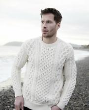 Irish Fisherman Sweater Natural 100% Wool Made in Ireland
