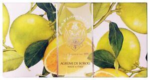 La Florentina Agrumi di Boboli Bar Soaps Citrus Scent Pack of 3 Luxury Box Soap