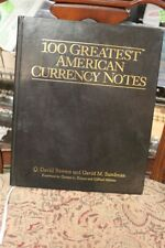SIGNED LEATHER COPY 100 GREATEST AMERICAN CURRENCY NOTES #183/500 BOWERS SUNDMAN