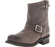 New FRYE Womens Harness 8R Pull On Square Toe Boots Charcoal Leather Size 6