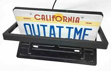 USA Plastic flipper revolving license plate with remote flipping frame rotate