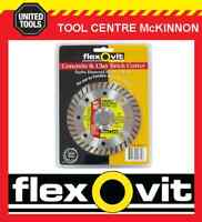 "FLEXOVIT 4.5"" / 115mm TURBO RIM DIAMOND WHEEL / BLADE FOR BRICK & CONCRETE ETC"