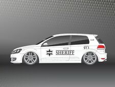 2x XXL Seitenaufkleber Sheriff Police Design Folie Dekor Sticker Auto SD011