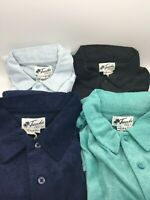 Mens Trunks Surf & Swim Co Terry Cloth Polo Shirt New With Tags 4 Colors Avail..