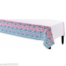 BABY SHOWER Girl or Boy PLASTIC TABLE COVER ~ Gender Reveal Party Supplies Cloth