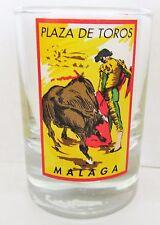 MALAGA, SPAIN   PLAZA DE TOROS  BULLFIGHTING    SHORT SHOT GLASS