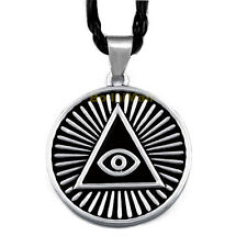 The All Seeing Eye Pyramid Illuminati with Rope Necklace
