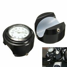 7/8'' 1'' Universal Motorcycle Bike Handlebar Mount Dial Clock Watch Waterproof