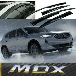 For 2014-2021 Acura MDX 3D MUGEN Style Side Window Visors Sun Rain Deflectors